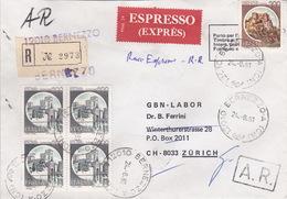 Eil-R-Brief 1981 Von Bernezzo (CN) Nach Zürich (br0120) - 6. 1946-.. Republic