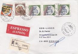 Eil-R-Brief 1981 Von Perignano (PI) Nach Zürich (br0123) - 6. 1946-.. Republic
