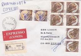 Eil-R-Brief 1981 Von Pisa Via Battelli Nach Zürich (br0124) - 6. 1946-.. Republic