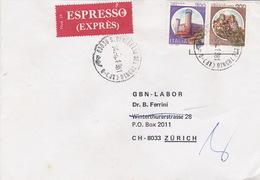 Eil-Brief 1981 Von San Benedetto Del Tronto (AP) Nach Zürich (br0133) - 6. 1946-.. Republic