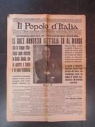 VP JOURNAL (M1704) IL POPOLO D'ITALIA 6 Maggio 1936 (6 Vues) Entrée Dans ADDIS ABEBA Benito Mussolini - Oorlog 1939-45