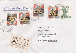 R-Brief 1981 Von Lamporecchio (PT) Nach Zürich (br0141) - 6. 1946-.. Republic