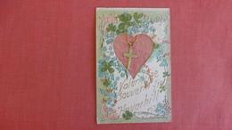 Valentine Souvenir From Haverhill -- Embosed  Has Metal Cross   Ref 2547 - Saint-Valentin