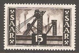001075 Saar 1953 15F MH - Nuovi