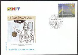 "Croatia Zagreb 1993 / Herman Dalmatin ""De Essentiis"" / Philosophy / FDC - Croatie"