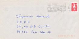 FRANCE - BEAUMONT SUR OISE 1996 - PONT - CHIATTA - Datario 2-12-??????????????? - Abarten Und Kuriositäten