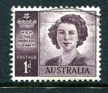 Australia 1947-52 Marriage Of Princess Elizabeth - No Wmk. Used (SG 222a) - 1937-52 George VI
