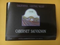 3885 -  Cabernet Sauvignon 1996 California Central Valley USA - Etiquettes
