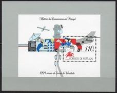 Portugal - Bloc Feuillet - 1991 - Yvert N° BF 81 **  - Histoire Des Communications Au Portugal - Blocchi & Foglietti