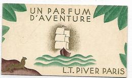 PUBLICITE - Un Parfum D'aventure L.T. PIVER PARIS - Carte 9 X 5 Cm - Au Verso, Calendrier De 1931 - Werbepostkarten