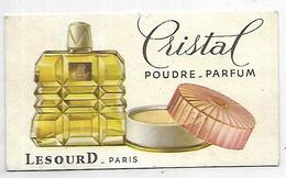 PUBLICITE - Poudre-Parfum CRISTAL - LESOURD Paris - Carte 9 X 5 Cm - Werbepostkarten