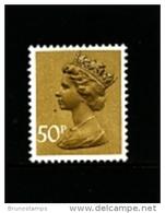GREAT BRITAIN - 1977  MACHIN  50p.  NO PHOSPHOR   MINT NH  SG X992 - Machins