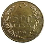 1989 - Turkey 500 Lira  - KM# 989 - Turchia