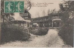 CPSM 95 SANNOIS Terrasse Du Père La Galette Manège Marocain à Tombola 1908 - Sannois