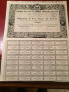 CHEMIN  De  FER  Et  BASSIN   HOUILLER  Du  VAR  -------Obligation  De  100 Frs