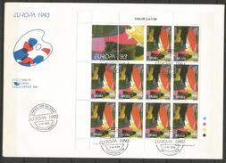 1993 MALTA  Europa Cept FDC - 1993