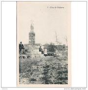 ZRGZTPA4365CPA-LFTMD10760TARMO.Tarjeta Postal De ZARAGOZA.Persona En La CRUZ DE GALFARRE,CRUCERO En ALHAMA DE ARAGON - Monumentos