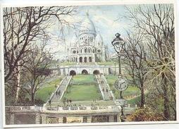 Paris : Le Sacré Coeur - Peinture Georges B. N°102 éd Artertre Toilée (arts Tableaux Peintre) - Sacré Coeur