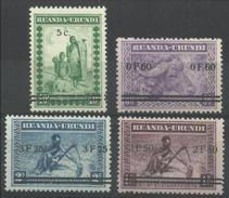 Ruanda Urundi - 114/117 - Meulemans - Overprint - 1941 - MNH - Ruanda-Urundi