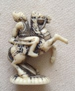 Figurine JACQUET Année 80 - Personnage Chinois 3,5 X 2,5 Cm - Figurines