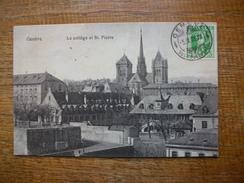 """Carte Assez Rare De 1908 , Suisse , Genève ,le Collège Et St. Pierre """""""" Beau Petit Timbre """""""" - GE Genève"""