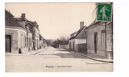 10 Plancy Rue Saint Victor Cpa Edit Charue Buraliste , Cachet 1914 - France