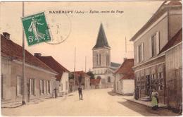 10 Ramerupt Eglise Centre Du Payx Cpa Animée Carte Colorisée 1916 - France