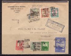 España 1938. Canarias. Carta De Las Palmas A Bruselas. Censura. - Marcas De Censura Nacional