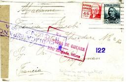 ESPAÑA GUERRA CIVIL 1937  26e DIVISION  120  BRIGADA MIXTA  Hasta PERPIGNAN EL485