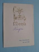 MENU ( Guy Hannick - 26 Avril 1959 ) Zie Foto´s ! - Menus
