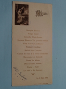 MENU Le 8 Mai 1933 ( Lecluse ) Imp. A Lambert Liège / Zie Foto´s ! - Menus