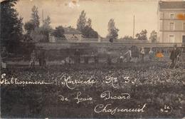16-CHASSENENEUIL- CARTE PHOTO- ETABLISSEMENT HORTICOLE N° 3 DE LOUIS PICARD - Autres Communes