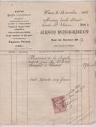 Facture De Siméon Renier-Baudot Rue De Namur Wavre En 1922 PR4440 - 1900 – 1949