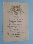 MENU 8 Mai 1938 Gérard .......... ( Mme Stevens) Zie Foto´s ! - Menus