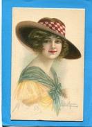 SUPERBE- MARCO-Portrait De Jeune Femme Avec Grand Chapeau-années 1910-20-édition C C M - Illustrateurs & Photographes