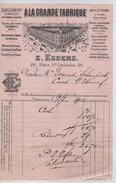 Facture A LA Grande Fabrique E.Esders Place Ste.Catherine Bruxelles En 1902 PR4441 - Belgium