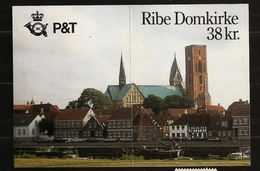 Danemark Danmark 1987 N° Carnet 895 ** Cathédrale De Ribe, Art, Pedersen, Vitrail, Voiture, Vélo, Bateau Gréement Granit - Denmark