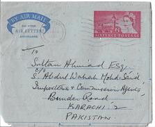 Great Britain 1966 Aerogramme Air Letter 6p Sent To Karachi Pakistan. - 1952-.... (Elizabeth II)