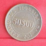 PORTUGAL 50 ESCUDOS  - CASINO DA FIGUEIRA     - (Nº18099) - Casino