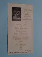 Feestmaal Plechtige Heilige Communie Denise HUYBRECHTS 26 Mei 1946 () Zie Foto´s ! - Menus