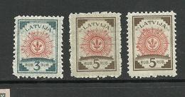 LATVIA Lettland 1919/21 Michel 30 - 31 * Mi 31 In 2 Typen - Glattes Und Gestreiftes Papier ! - Lettland