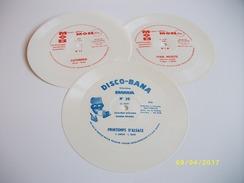 Lot De 3 Flexi Disques Vinyle Souple 45 Tours - Ediciones Limitadas