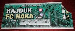 HAJDUK SPLIT- FC HAKA VALKEAKOSKI FINLAND, FOOTBALL MATCH TICKET - Match Tickets