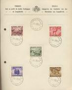 Souvenir 16-8-1939  ZOO De Léopolville  Yv. 209-213  Cote 40 € En Oblitéré Normaux