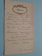 MENU Le 9 Mars 1930 (?) ( Mme Leroy) Zie Foto´s ! - Menus
