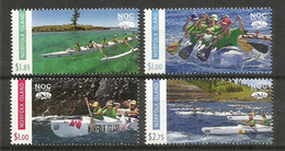 Outrigger World Championships.Norfolk Island Ocean Challenge (Pacifique-Sud) Série 4 Timbres Neufs **