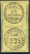 REUNION TIMBRE FISCAL D'ENGAGEMENT - Réunion (1852-1975)