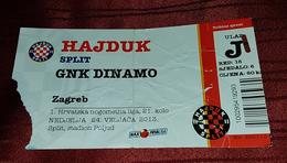 NK HAJDUK- NK DINAMO, CROATIAN FIRST DIVISION FOOTBALL MATCH TICKET - Match Tickets