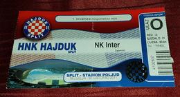 NK HAJDUK- NK INTER ZAPRESIC, CROATIAN FIRST DIVISION FOOTBALL MATCH TICKET - Match Tickets