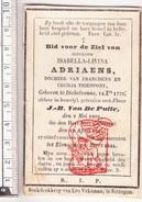 DP 1844 Isabelle Adriaens / Thienpont ° Dikkelvenne Gavere 1770 † Elene Zottegem X JB. Van De Putte 1823 Vekeman - Devotieprenten